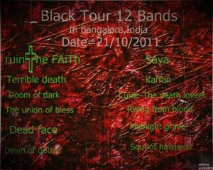 Ruin the faith black Tour
