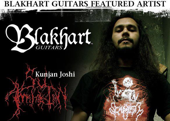 Kunjan Joshi[Ex VHUMI and E.QUALS Bassist] endorsed by Blakhart Guitars