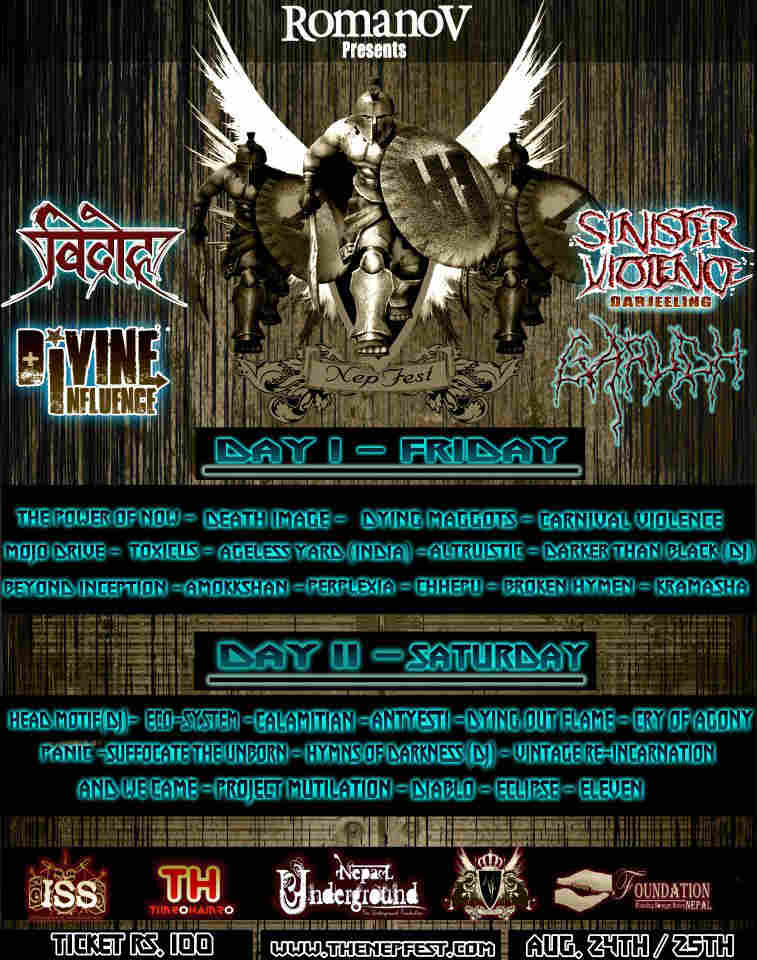 Nepfest August 2012 Band Competition - Band List