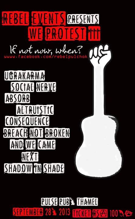 we protest iii