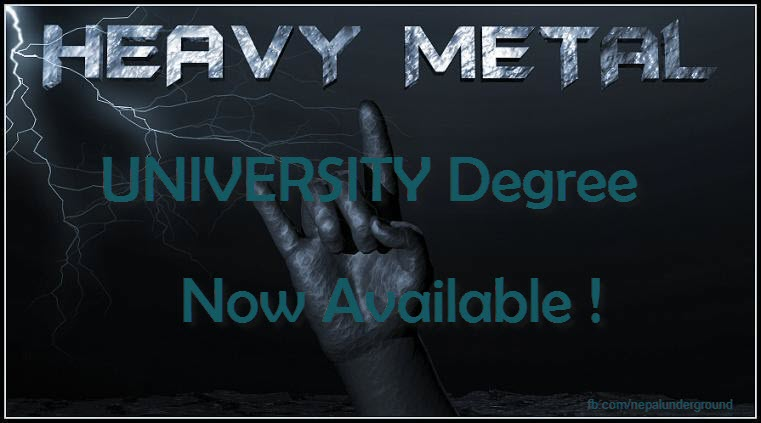 Heavy Metal University Degree UK Nottingham